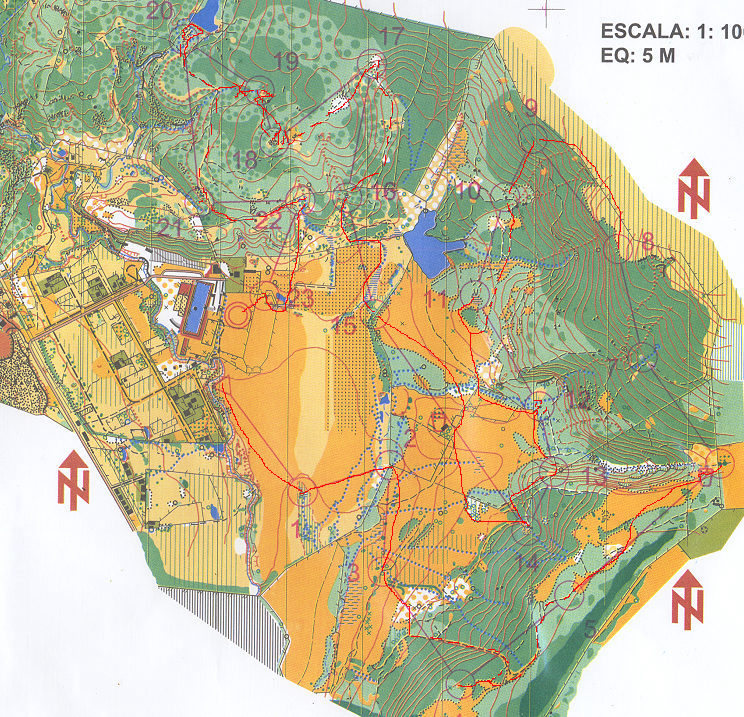 Orienteering map in Brazil